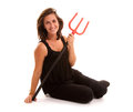 Woman with trident Stock Photos