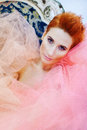 Woman in tulle Stock Photography