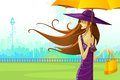 Woman with Umbrella Royalty Free Stock Images