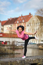 Woman urban sport exercising Stock Photography