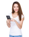 Woman use of cellphone Royalty Free Stock Photo