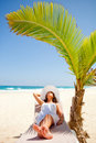 Woman in vacations Royalty Free Stock Photography