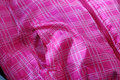 Woman vest pocket down with zipper winter time close up view Royalty Free Stock Photo