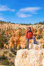 Woman viewing Bryce Canyon Royalty Free Stock Image