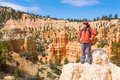 Woman viewing Bryce Canyon Royalty Free Stock Images