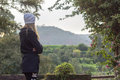 Woman viewing the landscape in countryside Royalty Free Stock Photo