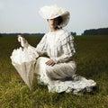 Mujer en antiguo vestir