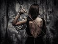 Woman with violin body art Royalty Free Stock Photo