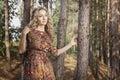 Woman Walking In The Woods Amo...