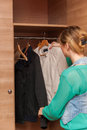 Woman and Wardrobe Royalty Free Stock Photo