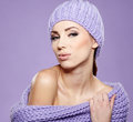 Woman  in warm clothing Stock Photo