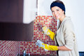 Woman washing the dishes Royalty Free Stock Photo