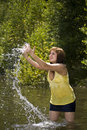 Woman in water Royalty Free Stock Photos