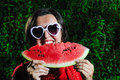 Woman watermelon Royalty Free Stock Photo