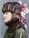 Woman Wearing Elaborate Hat