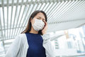 Woman wearing face mask at city Royalty Free Stock Photo