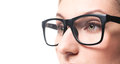 Woman wearing glasses close-up Royalty Free Stock Photo