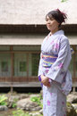 Woman wearing Kimono Stock Photography