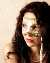 Woman wearing a mask Royalty Free Stock Images