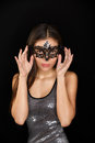 Woman wearing mask Royalty Free Stock Images