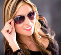 Woman wearing shades Royalty Free Stock Photo