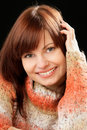 Woman wearing sweater Royalty Free Stock Image