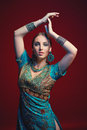 Woman wearing traditional Indian sari Royalty Free Stock Photo