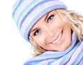 Woman wearing winter hat Royalty Free Stock Photo