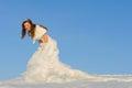 Woman in wedding dress Royalty Free Stock Photo
