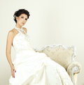 Woman in wedding gown Royalty Free Stock Photo