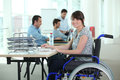 Woman in wheelchair Royalty Free Stock Images