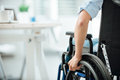 Woman in wheelchair Royalty Free Stock Photo