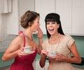 Woman Whispers Joke Stock Images