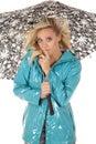 Woman wind umbrella shhh Stock Images