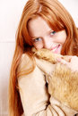 Woman in Winter clothes Royalty Free Stock Photos
