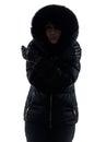 Woman Winter Coat Freezing Col...