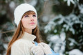 Woman in wintertime Stock Image