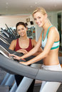 Woman Working With Female Personal Trainer