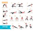 Woman workout fitness, aerobic and exercises. Royalty Free Stock Photo