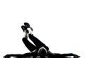 Woman workout fitness posture abdominals push ups Stock Photos