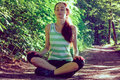 Woman Yoga - relax in nature Royalty Free Stock Photo