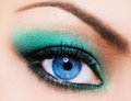 Womanish eye Royalty Free Stock Photo