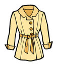 Womans coat cartoon illustration of a light tan these can be used as flashcards for babies and toddlers or for language or other Royalty Free Stock Photo