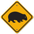 Wombat sign Stock Photography