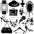 Women accessories vector Stock Photography
