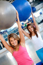 Women in aerobics class Stock Photography