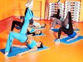Women in aerobics class. Stock Photo