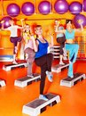 Women in aerobics class group Royalty Free Stock Photography