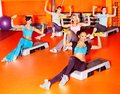 Women in aerobics class group Royalty Free Stock Photos
