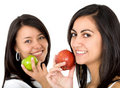 Women with apples Stock Photo